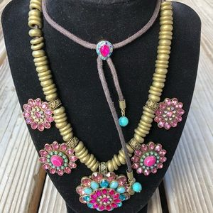 WOW! Betsey Johnson Beaded Crystal Rope Necklace!